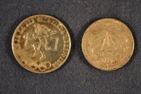 1968 Mexico 25 Peso Silver Olympic Coin, 1932 Mexico