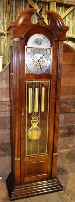 Ridgeway Cherry Finish Grandfather Clock