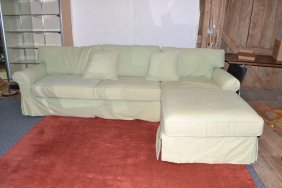 Lee Industries All Over Upholstered Two Piece Sofa With