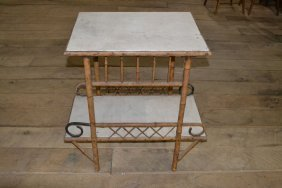 Rattan Two Tier Patio Table
