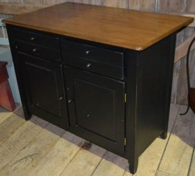 Canadel Two Drawer Over Two Door Painted Maple Kitchen