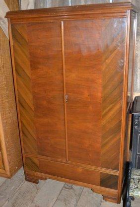 Art Deco Cedar Lined Two Door Wardrobe
