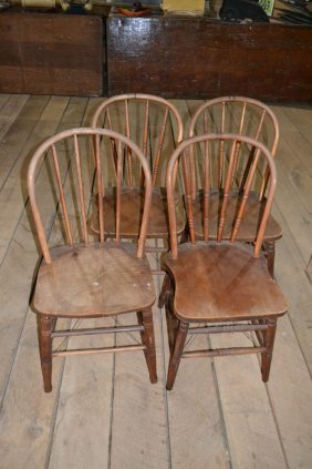 Four Similar Windsor Kitchen Chairs