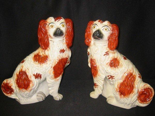 5: Pair of Staffordshire Spaniels, English 19th century