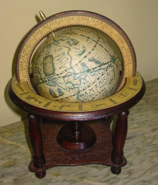 23: Table-top globe.