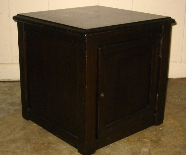 "370: 1800s safe in cabinet. 15 1/2"" x 15 1/2"" x 15 1/2"""