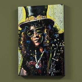 """Slash"" LIMITED EDITION Giclee on Canvas by David"