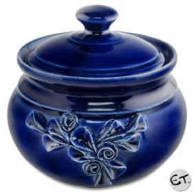 Hand Made Ceramic Jar with Lid by Eugenijus Tamosiunas!