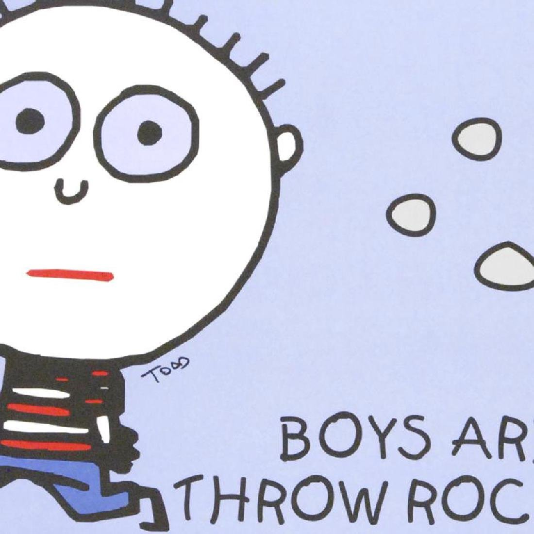 """Boys Are Stupid, Throw Rocks At Them!"" FINE ART Litho - 2"