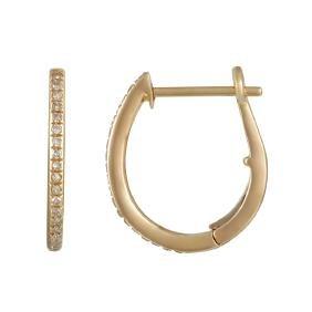 14KT Yellow Gold Diamond Earrings