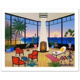 """Interior with Striped Horse"" Limited Edition Serigraph"