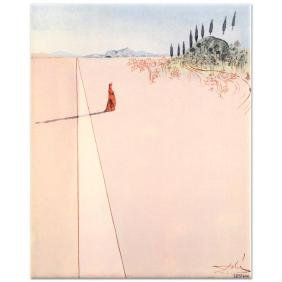 """Salvador Dali (1904-1989) - """"Departure for the Great"""