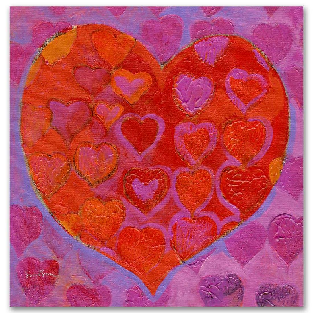"""""""Playful Heart VI"""" Limited Edition Giclee on Canvas by - 3"""