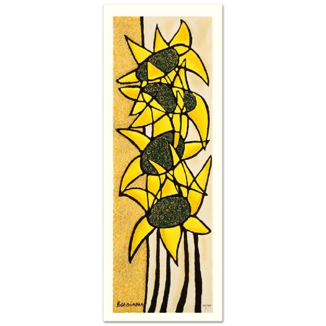 """""""Sunflower Trio"""" Limited Edition Serigraph by Avi"""
