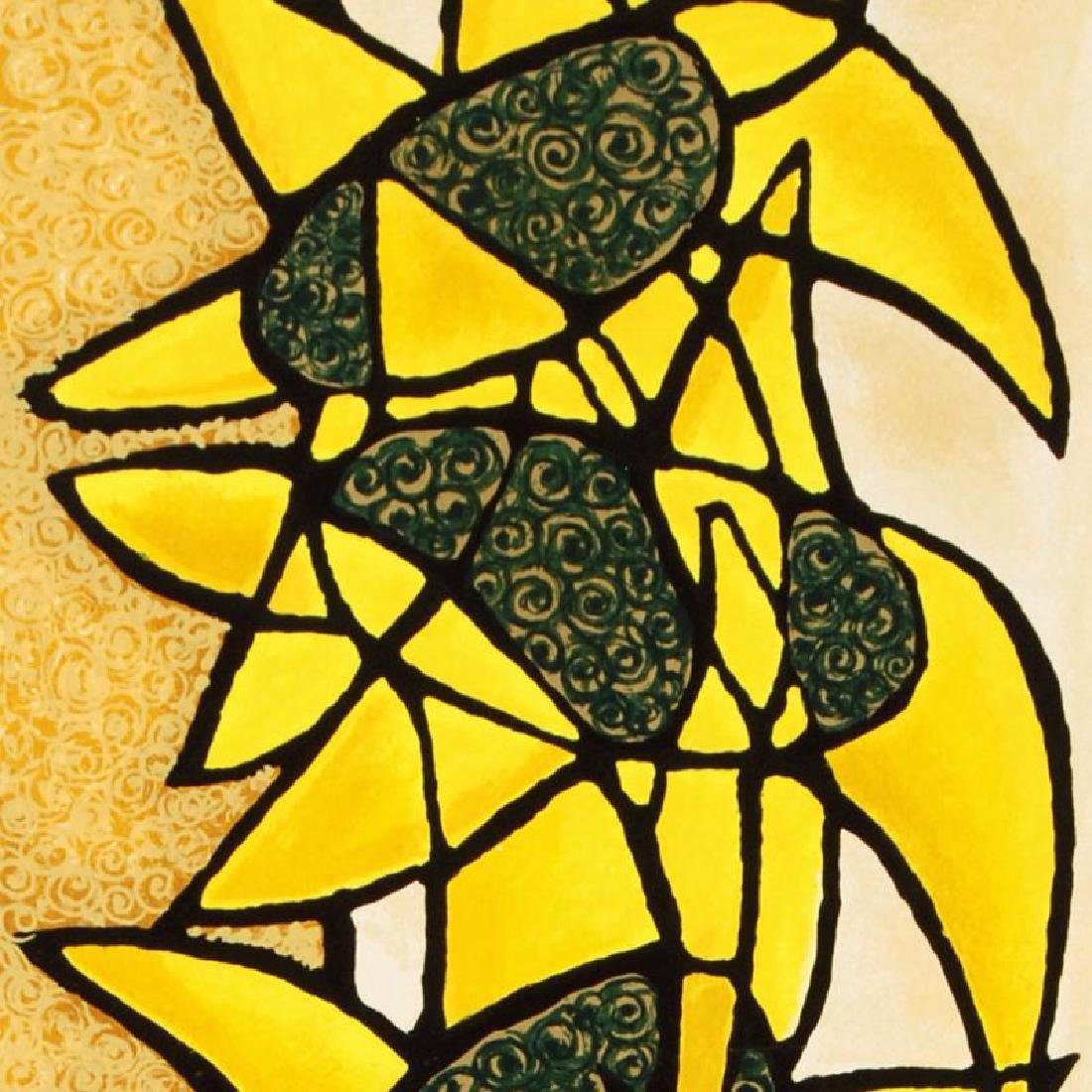 """""""Sunflower Trio"""" Limited Edition Serigraph by Avi - 2"""