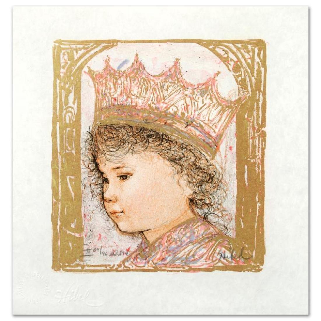 """Celia"" Limited Edition Lithograph by Edna Hibel"