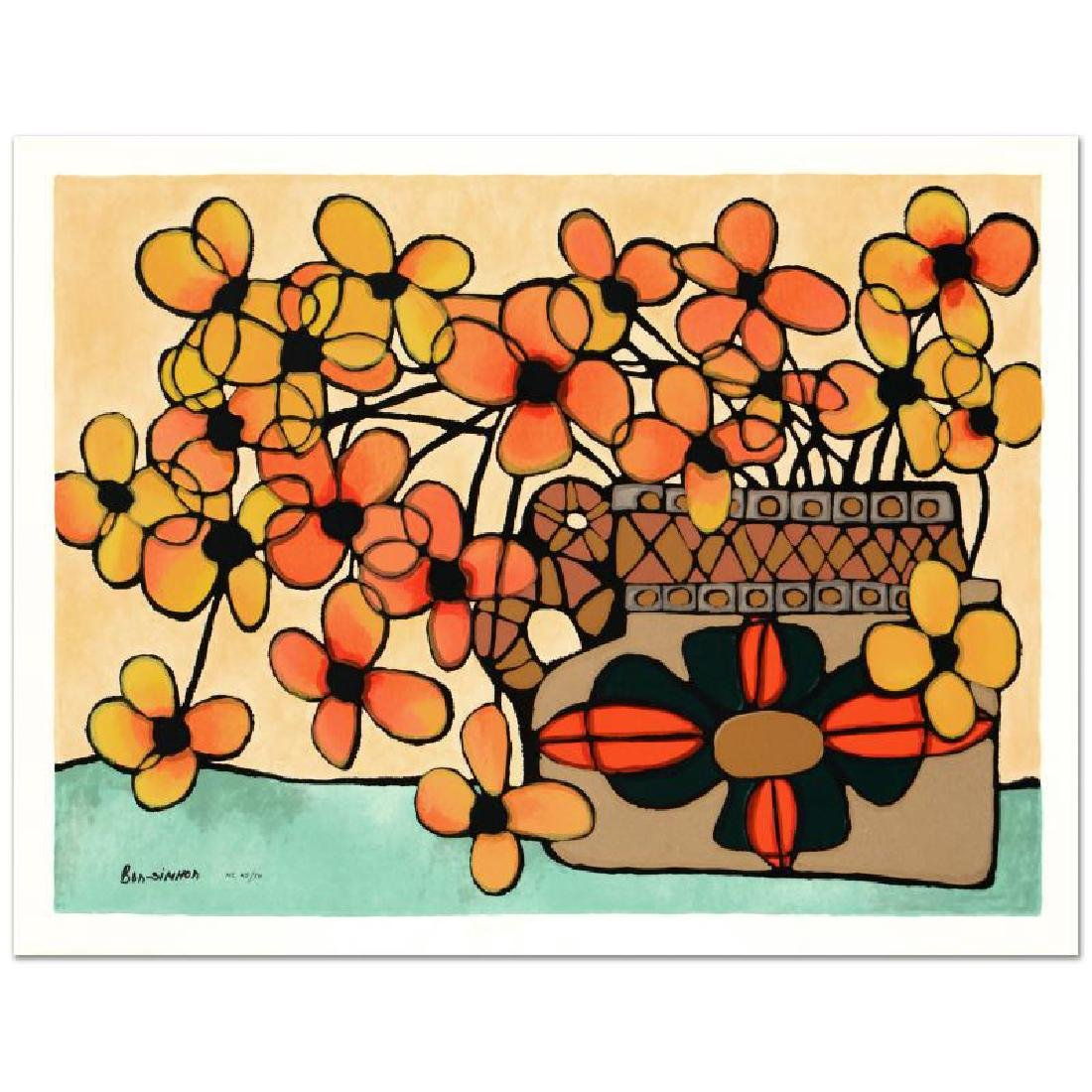 """Autumn"" Limited Edition Serigraph by Avi Ben-Simhon,"