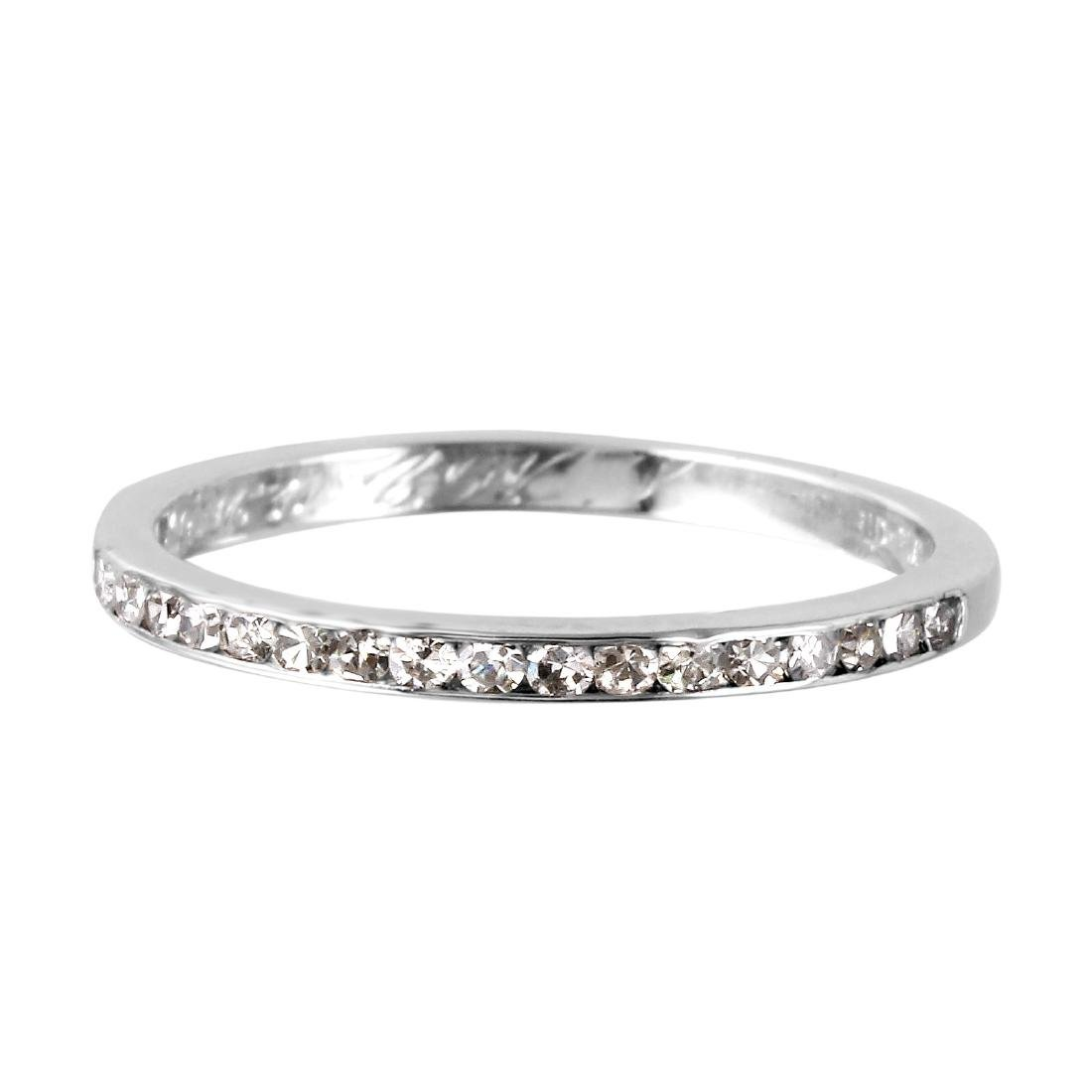 Platinum Diamond Wedding Band - 3