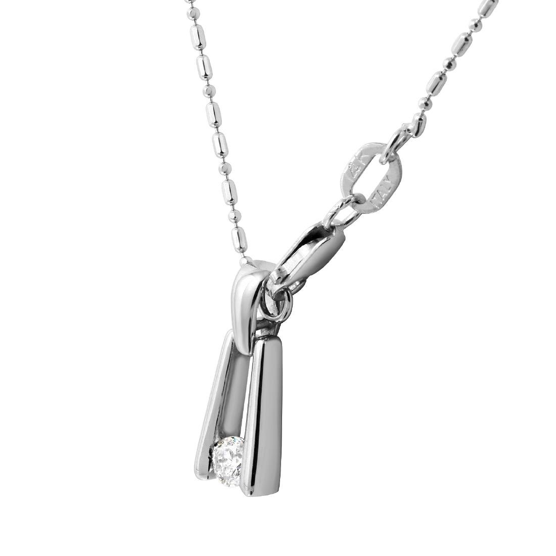 18KT White Gold & Platinum Diamond Necklace