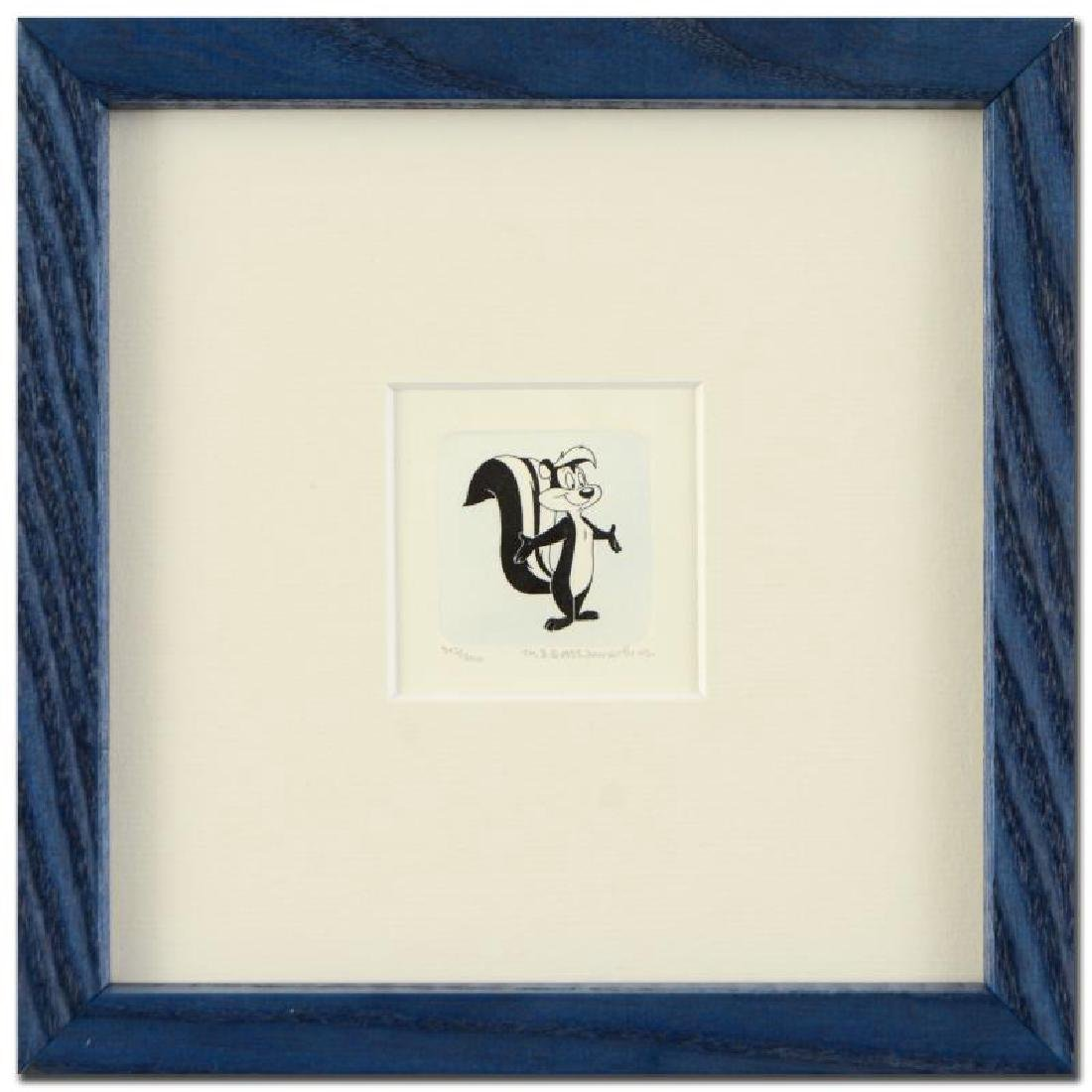 """Pepe Le Pew"" Framed Limited Edition Hand-Tinted"