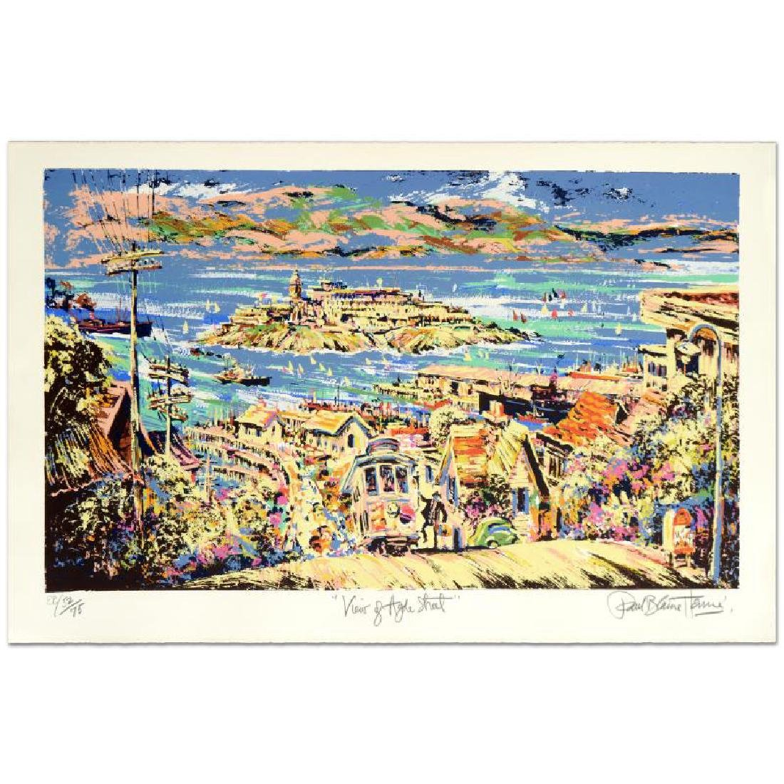 """View of Hyde St."" Limited Edition Serigraph (36"" x"