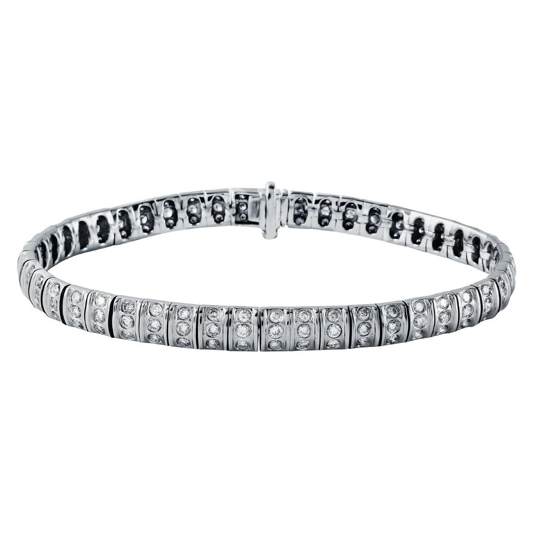 14KT White Gold Diamond Bracelet