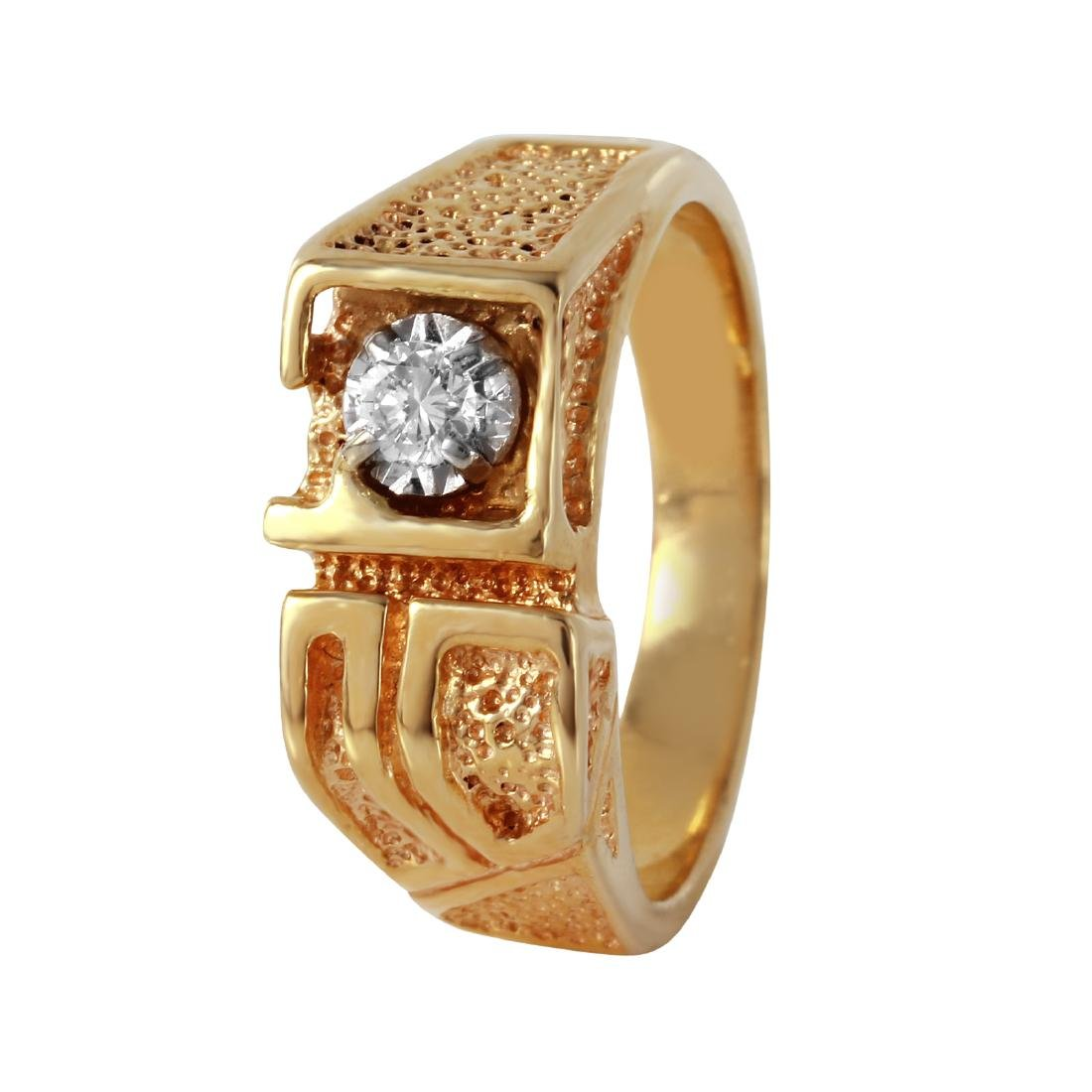 14KT Yellow Gold Diamond Men's Ring