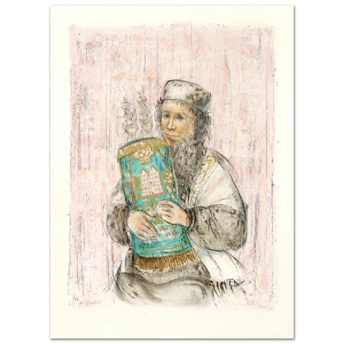 """Israeli Rabbi"" Limited Edition Lithograph by Edna"