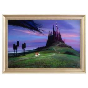 """Peter Ellenshaw (1913-2007) - """"Aurora's Rescue"""" Framed"""