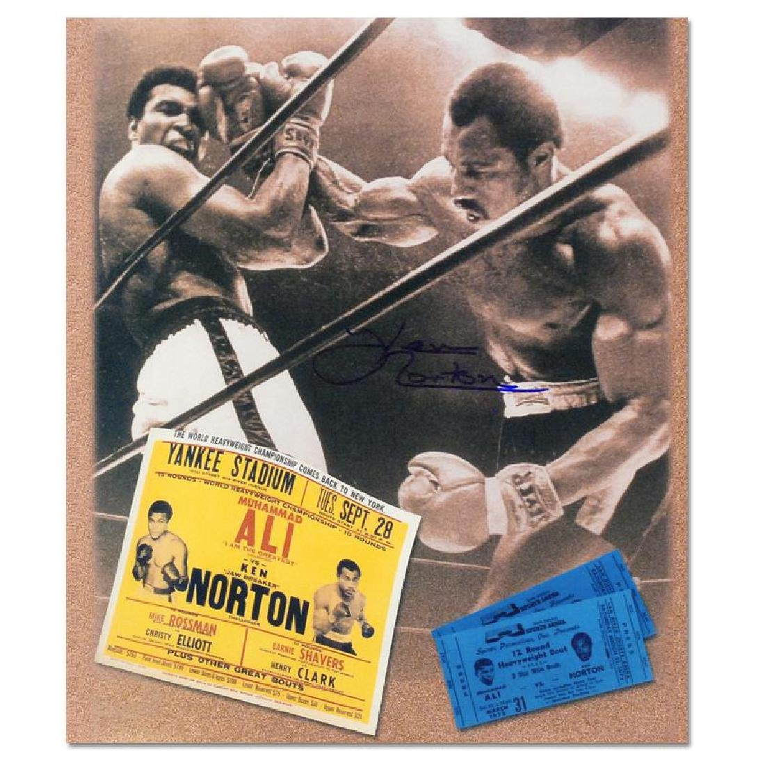 "Must-Have Signed Sports Photo Collage! ""Ken Norton and"