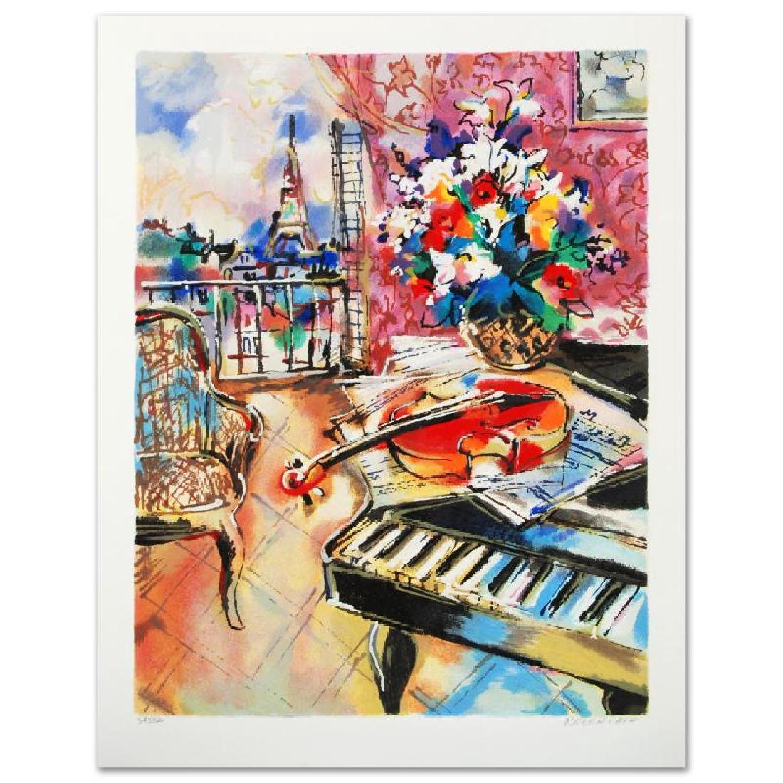 """Parisian Sounds"" Limited Edition Serigraph by Michael"