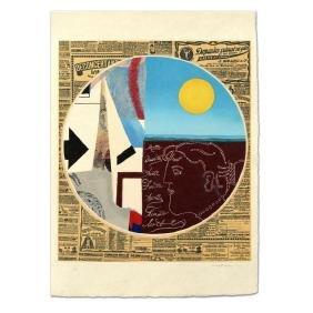 "Max Papart (1911-1994) - ""Circle with Engraving"""