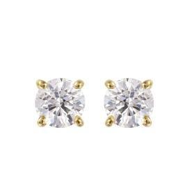 14KT Yellow Gold Diamond Stud Earrings
