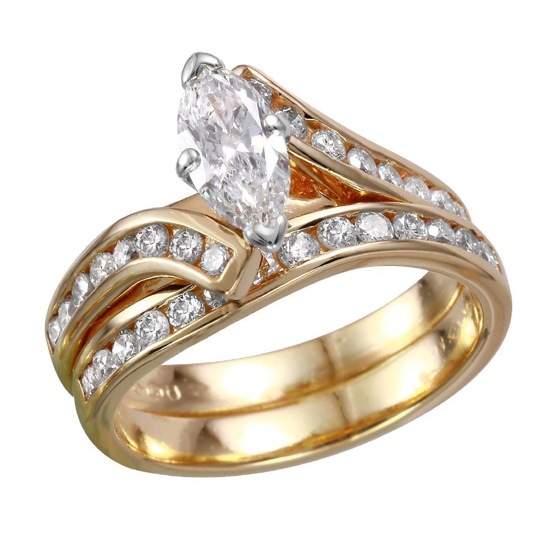 14KT Yellow Gold Diamond Wedding Ring