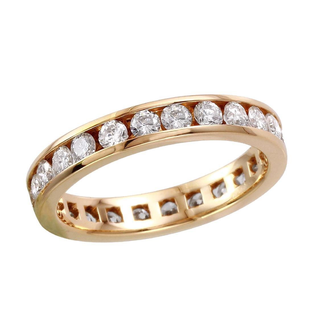 14KT Yellow Gold Diamond Eternity Ring