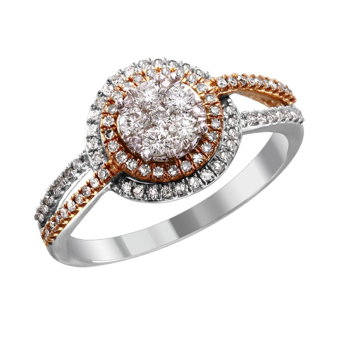 10KT Gold Diamond  Engagement Ring