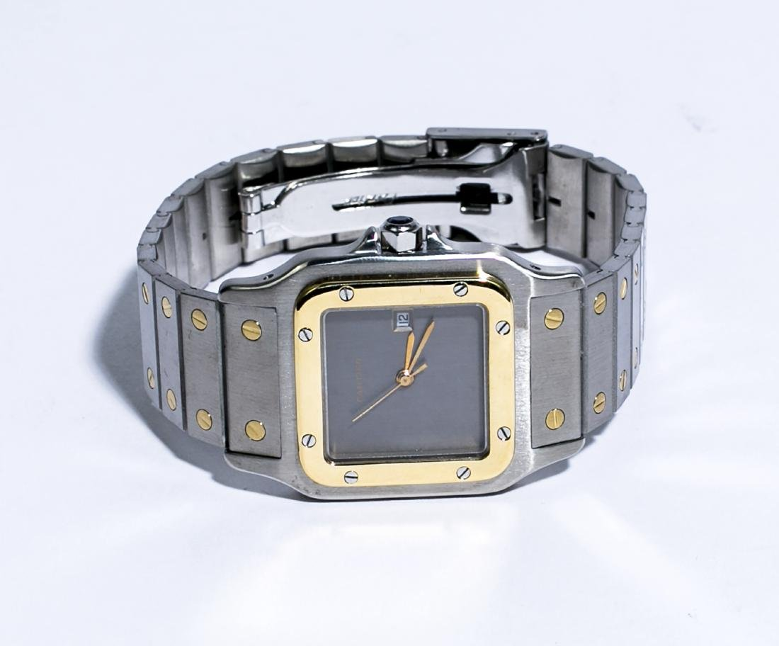 Cartier Santos Carrée 18KT Gold & Stainless Steel Men's