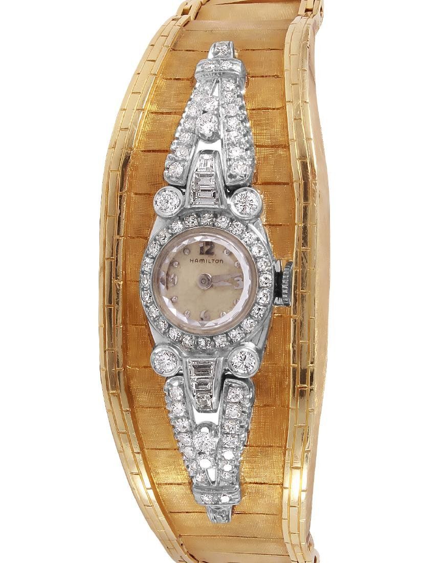 14KT Lady Hamilton Platinum Diamond Watch
