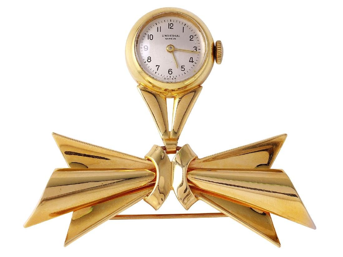 Vintage Geneve 14KT Yellow Gold Nurse's Watch Brooch