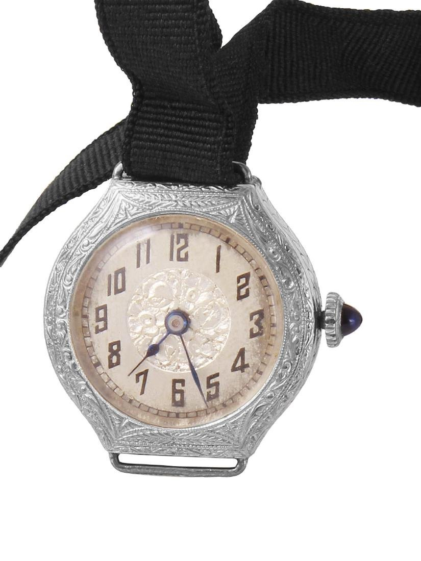 Hartford 14KT White Gold Silk Watch