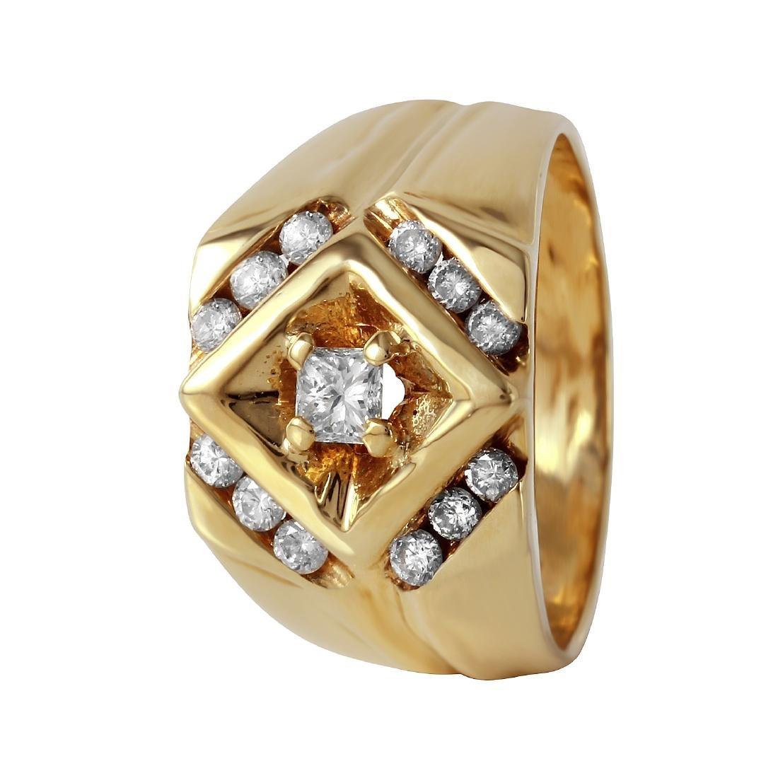 Men's 14KT Yellow Gold Diamond Ring