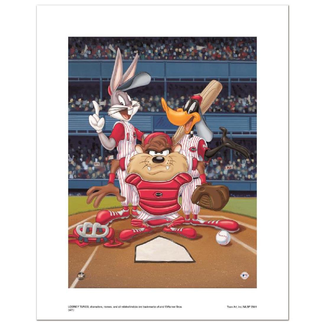 """At the Plate (Reds)"" Numbered Limited Edition Giclee"