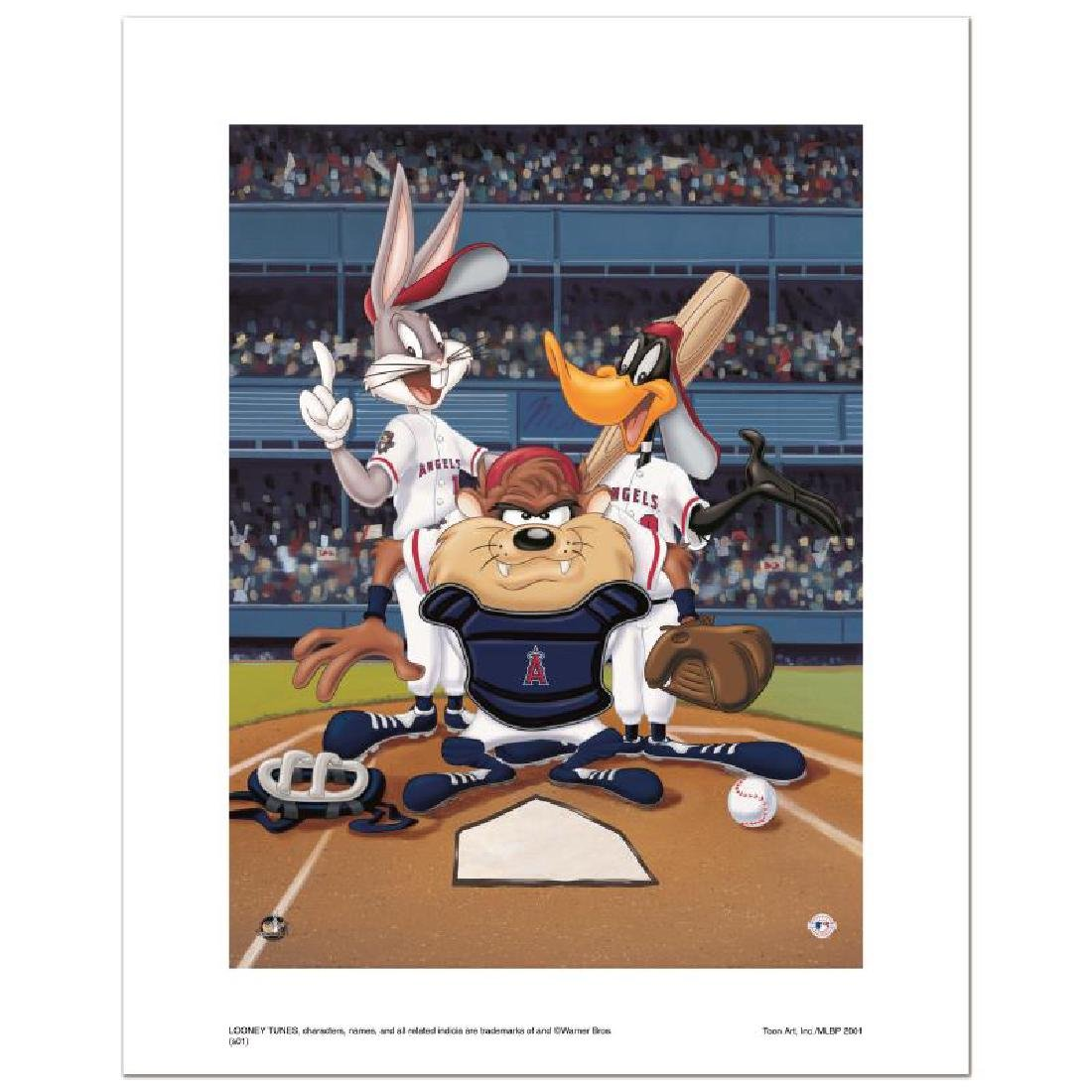 """At the Plate (Angels)"" Numbered Limited Edition Giclee"