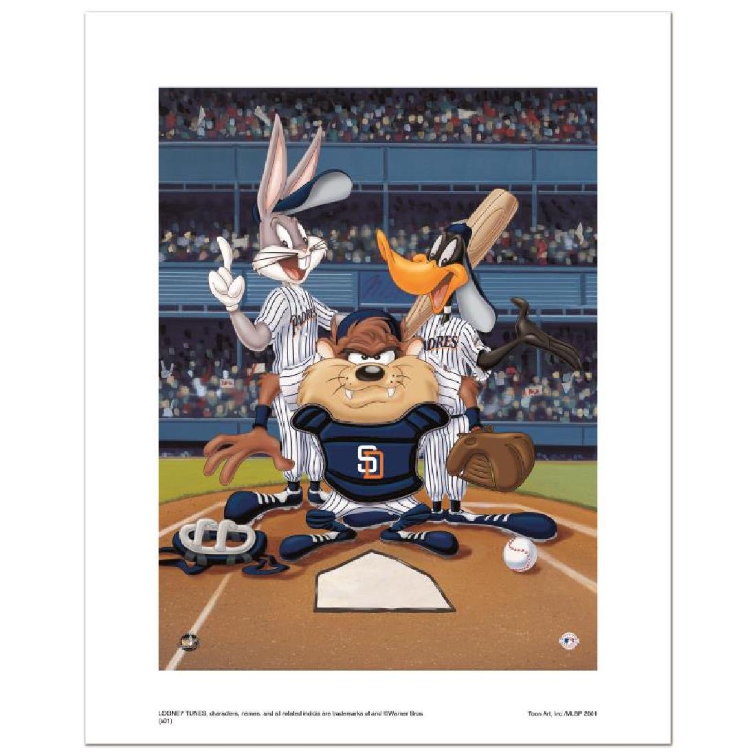 """""""At the Plate (Padres)"""" Numbered Limited Edition Giclee"""