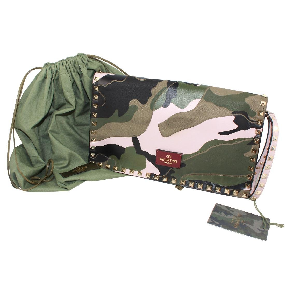 Valentino Rockstud Camo Leather Bag
