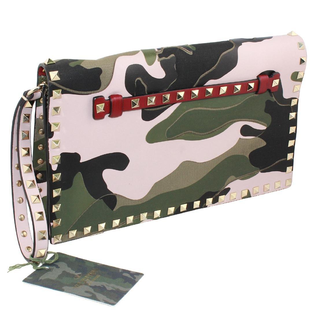 Valentino Rockstud Camo Leather Bag - 2