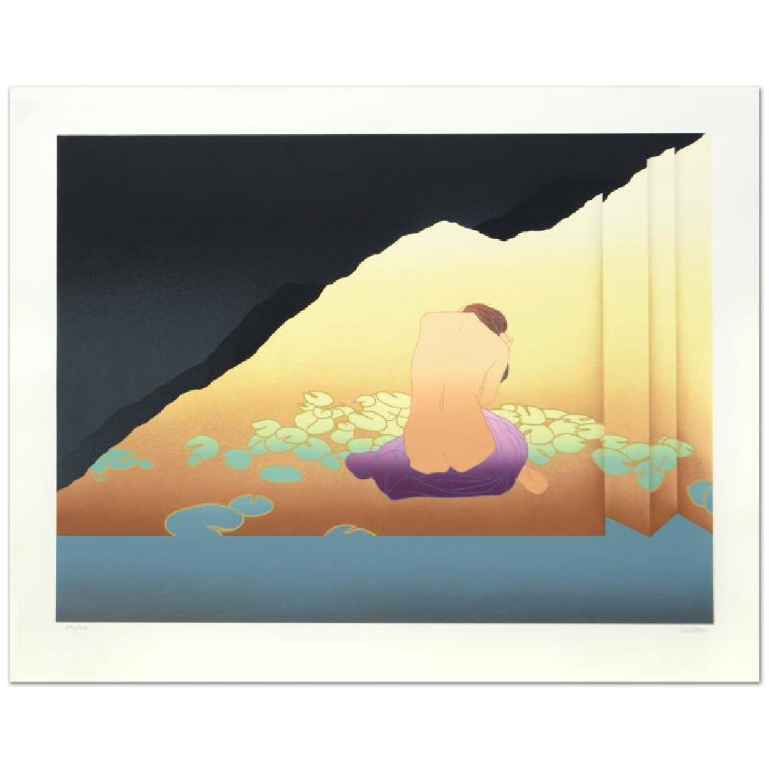 """""""Woman in Lillied Shoji"""" Limited Edition Serigraph (40"""""""