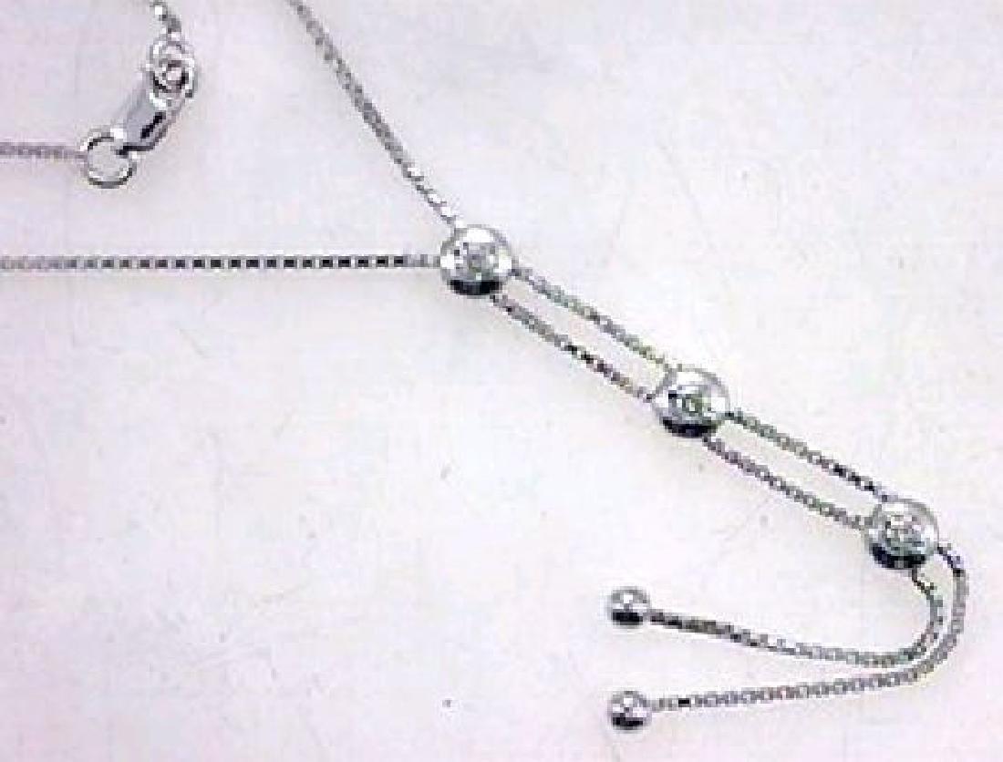 14KT White Gold Ladies Diamond Necklace