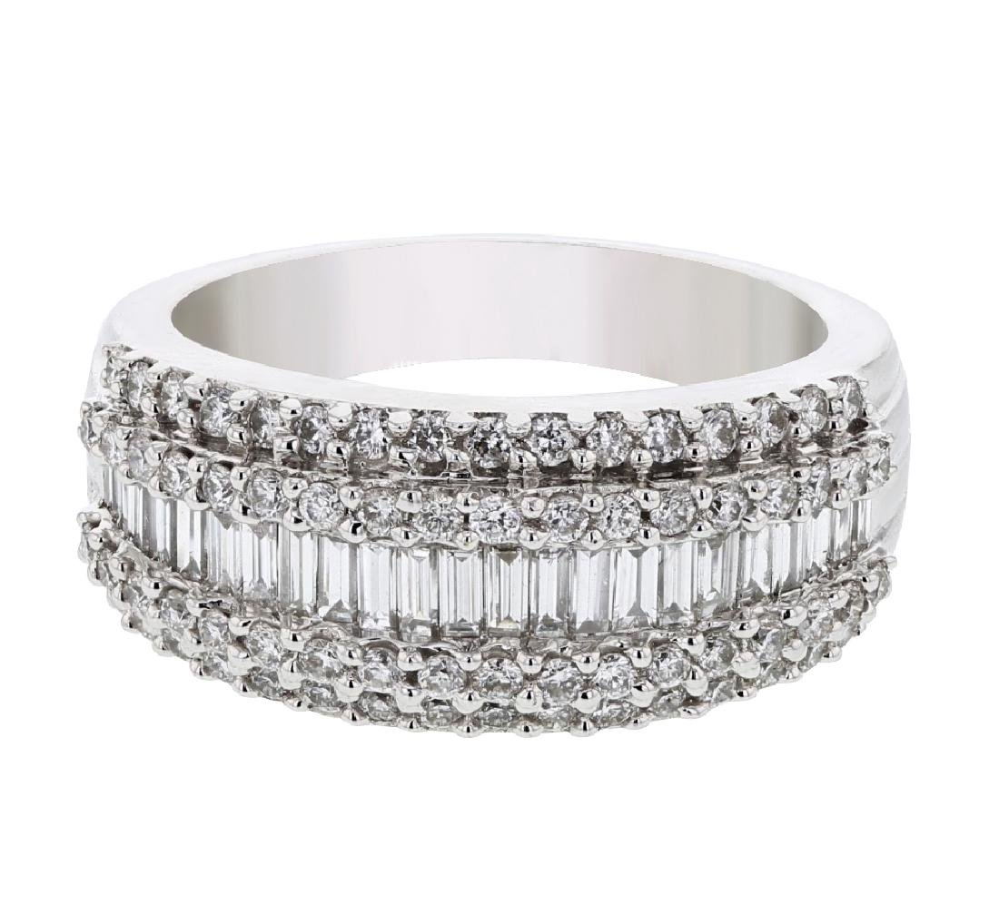 18KT White Gold Ladies Diamond Ring