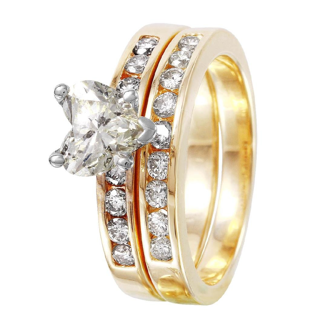 14KT Yellow Gold Diamond Engagement Set